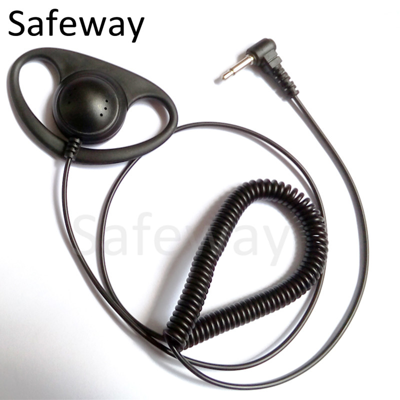3.5mm D ring Listen only earpiece receive only earphone for Motorola For kenwood For baofeng two way radio microphone(China (Mainland))