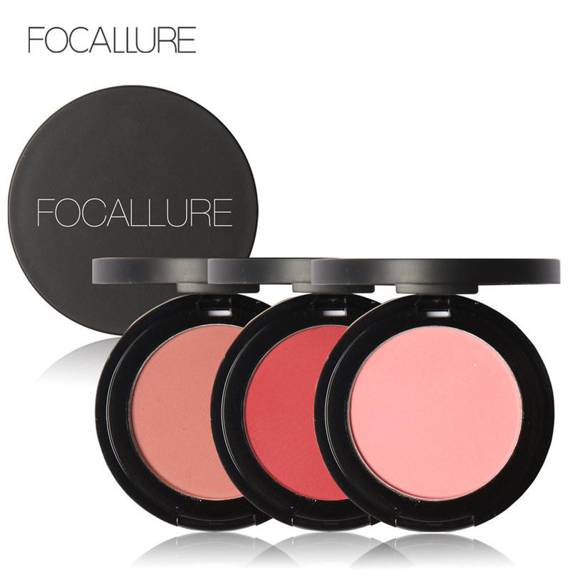 FOCALLURE Fashion Natural Fabulous Genuine Soymilk Matte Pearl rouge Blush Long-lasting Make up Face Blusher(China (Mainland))