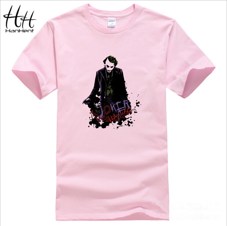 Men Hot Sale Joker Heath Ledger T Shirts Vintage Movie Batman 2 The Dark Knight Rises Tshirts Custom Funny Print T-shirts TA0336(China (Mainland))