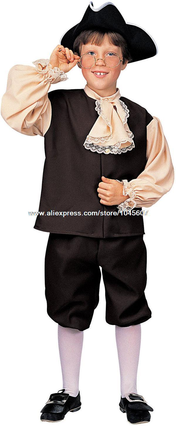 Colonial Boy Costume Cosplay Costumes anime halloween Christmas Free Shipping(China (Mainland))