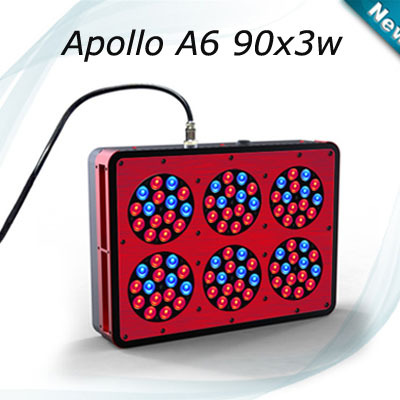 Freeshipping Apollo 6 plant grow light 270w hydroponics led grow light Red Blue bulb plant light for growing tent(China (Mainland))