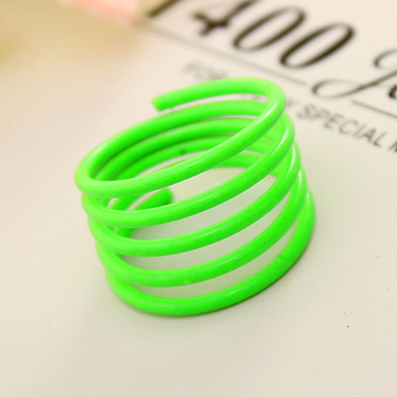 New Punk Fashion Summer Neon Color Spiral Openings Finger Knuckle Ring For Women Jewelry(China (Mainland))