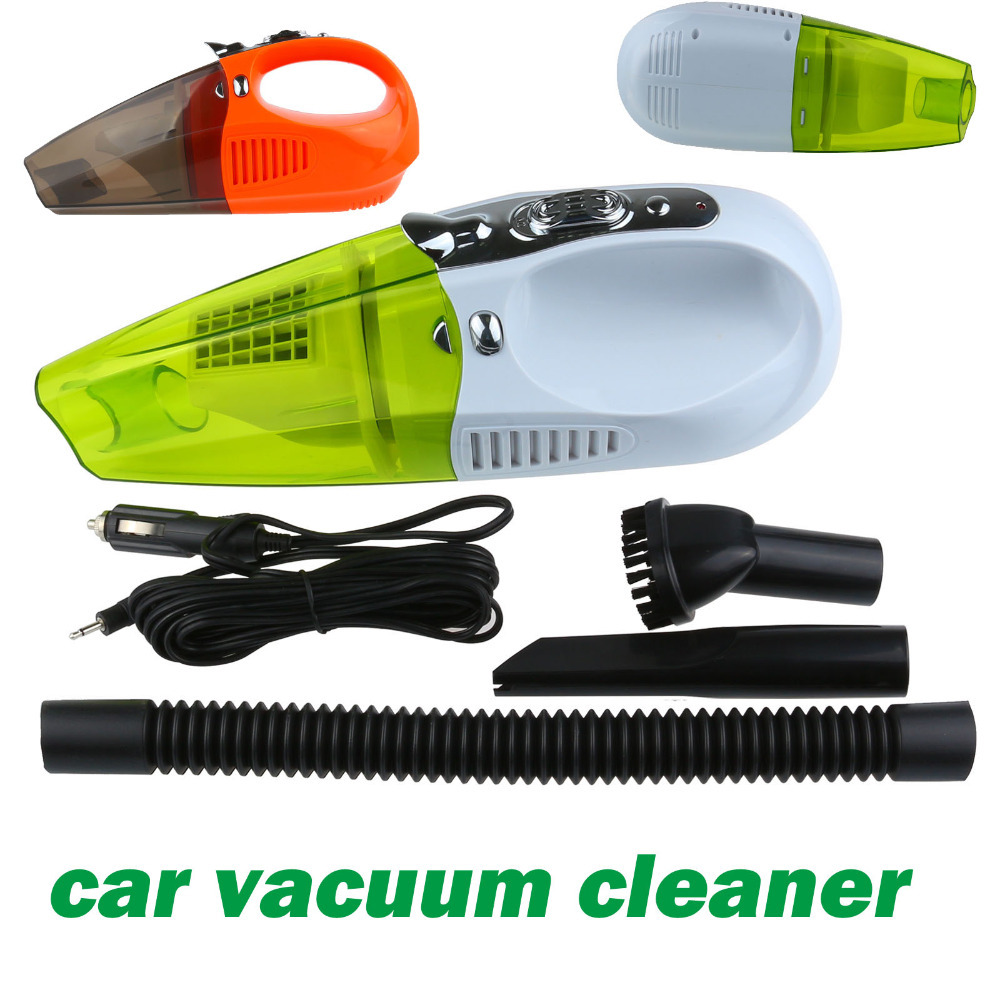 Car styling 100W 12V Vacuum Cleaner Dual Function Car Vacuum Green Cleaner With Double Filter And Super Strong Suction(China (Mainland))