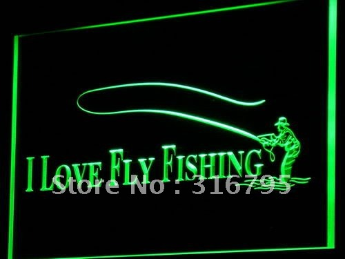 i729-g Fly Fishing Fish Shop Display LED Neon Light Sign Wholeselling Dropshipper(China (Mainland))