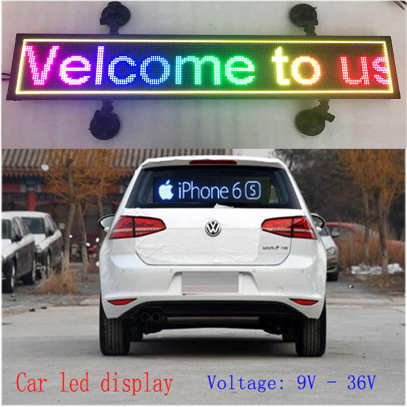 indoor programmable image LED Car display RGB full color LED sign support scrolling text LED advertising screen display(China (Mainland))