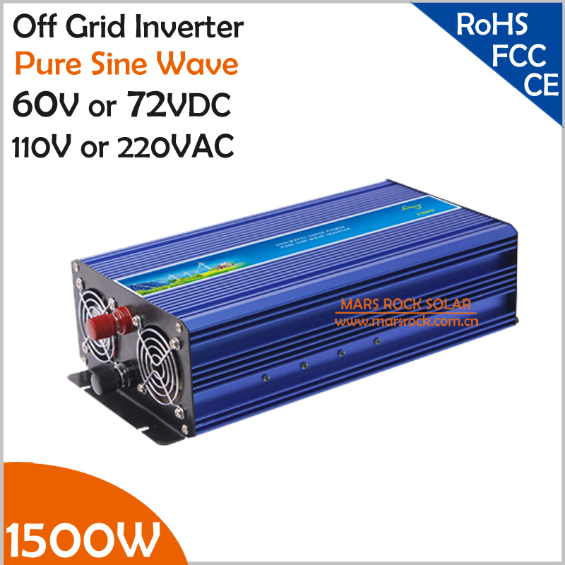 Off Grid 1500w Pure Sine Wave Inverter for Solar or Wind System, Single Phase, Surge 3000w, DC60V/72V, AC110V/220V, 50Hz/60Hz<br><br>Aliexpress