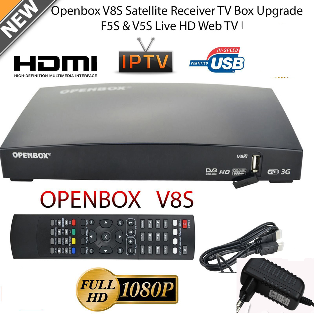 OPENBOX V8S Full HD High-Definition Wireless WIFI Satellite Receiver Freesat PVR TV Box EU-Plug HOT(China (Mainland))