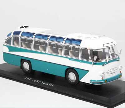 1:43 Soviet With black base and transparent display case,Bus 697 Model Free shipping(China (Mainland))