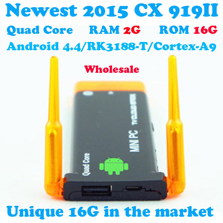 Гаджет  CX919II Android Smart TV Box 2GB 16GB TV Stick Receiver Dongle RK3188T Quad Core Android Mini PC 4.4 With Bluetooth Wifi None Бытовая электроника