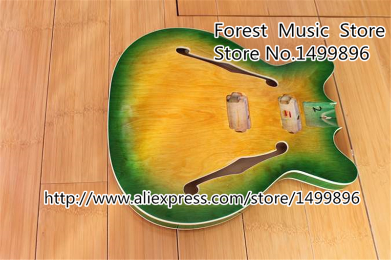 Vintage 1960s Style Semi-Hollow Guitar Body Without Hardwre China Musical Instrument In Stock<br><br>Aliexpress