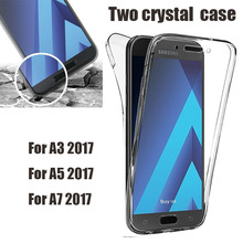 Buy 360 Degree Full Body Samsung Galaxy A3 A5 A7 2017 Clear Soft TPU Front + Back Two Crystal case cover A320 A520 A720 for $1.99 in AliExpress store
