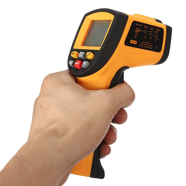 Durable New GM700 -50-700 Degree 12 : 1 Non-Contact Digital LCD IR Infrared Temperature Tester Thermometer Laser Gun(China (Mainland))