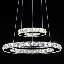 Luxusní osvětlení – 1-4 závěsné kruhy z křišťálu