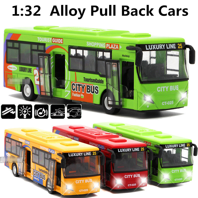 1:32 alloy car models,high simulation city bus , metal diecasts, toy vehicles, pull back & flashing & musical, free shipping(China (Mainland))