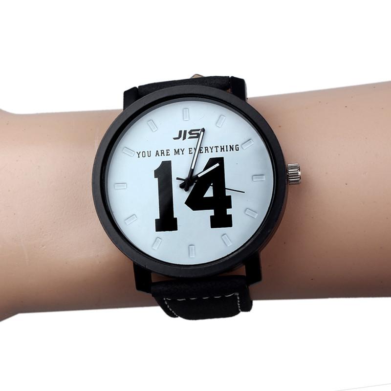 Fashion Lovers Men Women Leather Band Quartz Analog Wrist Watch Sports Military Relojes Geneva Wristwatch Femme Free Shipping