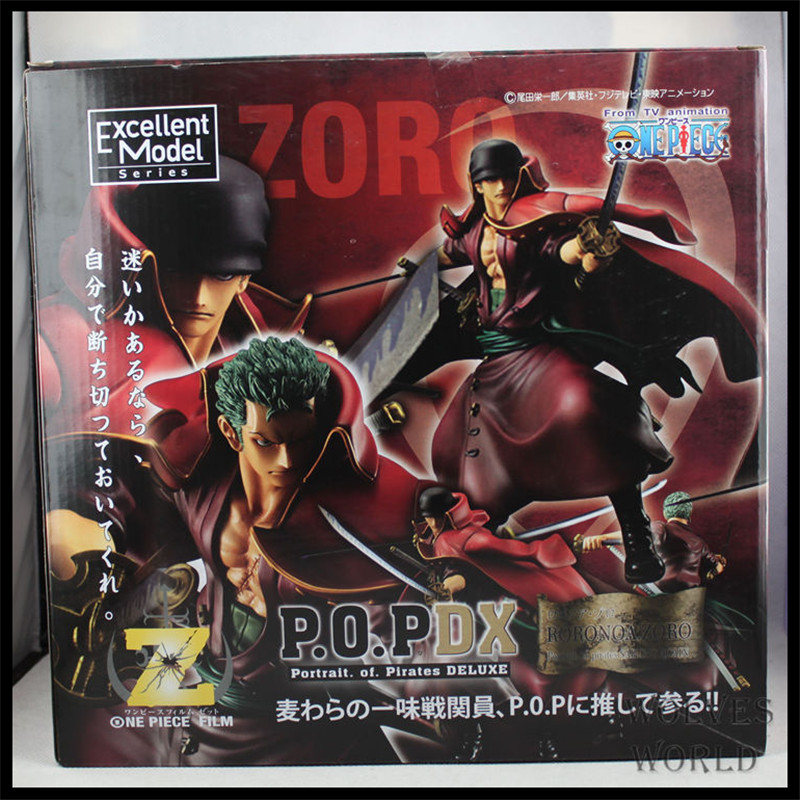 Japan One Piece New World Anime Figuarts Zero Roronoa Zoro Action Figure PVC Boxed Model Red Movie Limited Edition 0141(China (Mainland))