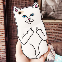 Hot Funny 3D Animal RIPNDIP Pocket Cat Fundas Capa Soft Silicone Phone Cases Cover iPhone 4 4S 5 5G 5S SE 6 6G 6S 6Plus 5.5 - One Shop,One Dream Co., Ltd store