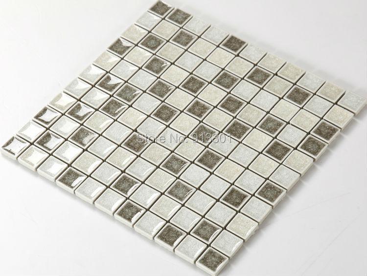 ceramic sheets square mosaic tile art pattern cheap bathroom floor wall sticker kitchen backsplash HCHA006 glazed porcelain tile(China (Mainland))