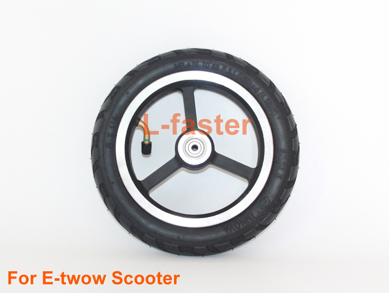 8 Inch Air Wheel With Inner Tube Customized For E-twow Scooter Aluminium Alloy Wheel Hub With 8x1.25 Tire With Bearings And Axle(China (Mainland))