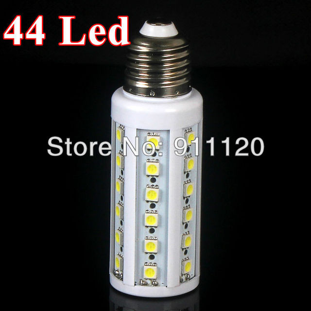 (10PCS/LOT)Smart 7W SMD E27 44pcs LEDs 400LM AC85-265V White/ Warm White LED Corn Light LED Bulb Light Downlights
