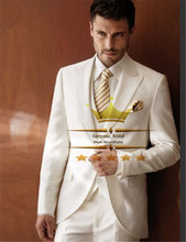 Ivory Whitel Mens Tuxedo Wedding Suit