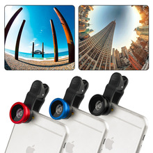Fisheye Macro 2 in 1 Lens Magnetic Mount for Mobile Phones blue color(China (Mainland))