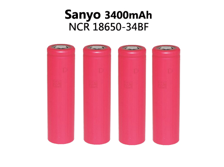4 PCS Original 3.7V 18650 3400mAh For Sanyo batteries rechargeable Battery NCR18650BF safe batteries Industrial use(China (Mainland))