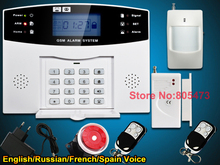quad bands GSM alarm system Home alarm system alarm systems 2 years warranty Russian Spanish Engish Voice and manual(China (Mainland))