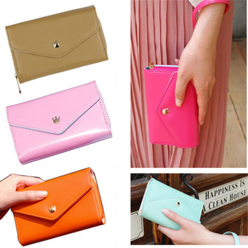 New Multi Propose Envelope Wallet Case Purse For Samsung Galaxy S2 S3 For Iphone 4 4S