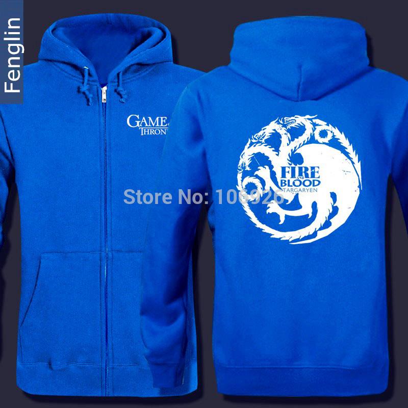 Men's Hoodies Game Thrones Sweatshirt Rock Band Hoodie Band Sweatshirt Zipper Hoodies Zipper Sweastsshirt(China (Mainland))
