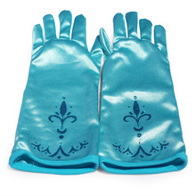 Children Elsa gloves with elastic Girl Winte blue Sleeve tactical Gloves Free Shipping