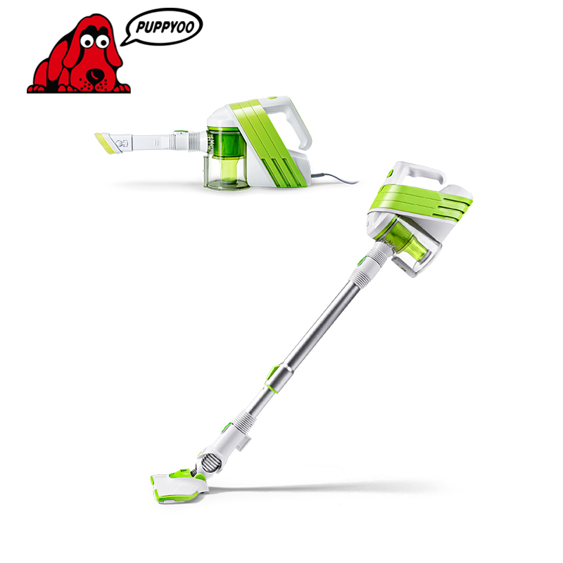 Low Noise Home Rod Vacuum Cleaner Handheld Dust Collector household Aspirator White&Green Color WP521 PUPPYOO()