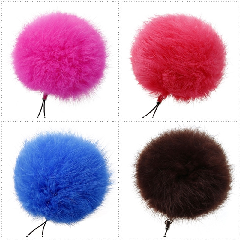 14Colors 8CM Genuine Rabbit Fur Ball Keychain 2016 Rhodium Plated Fur Ball Keyring Women Fur Key Keychain Couples Keychain Men(China (Mainland))