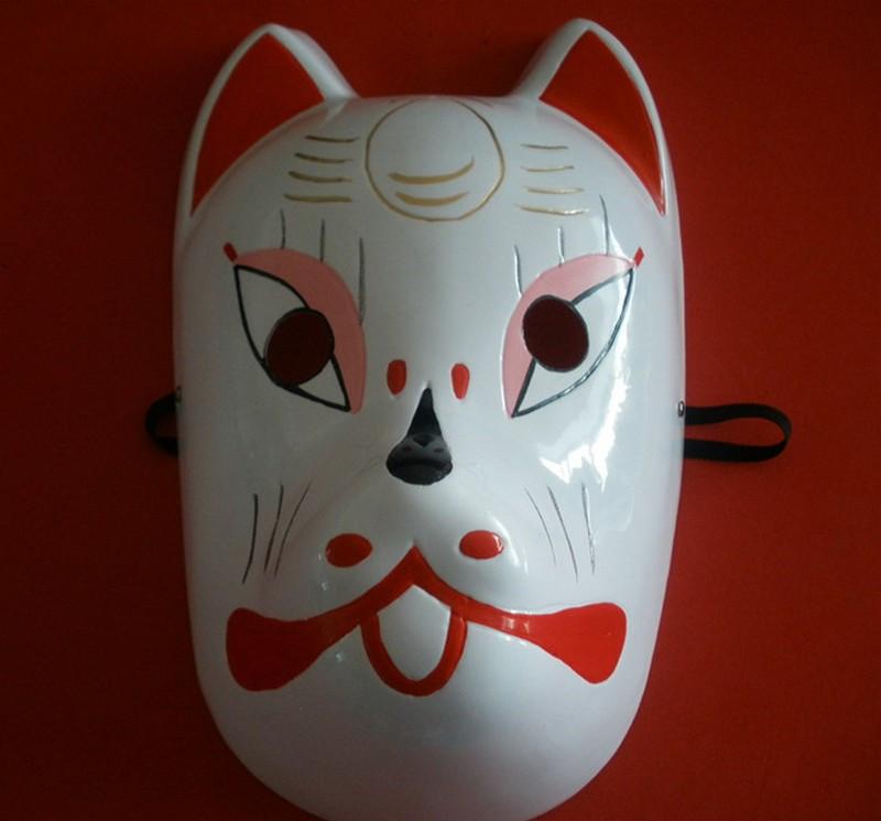 Naruto Hatake Kakashi Anbu Japanese Fox Mask Animal Hand-Painted Cartoon Face Mask Demon Kitsune Cosplay Masquerade Carnival (7)