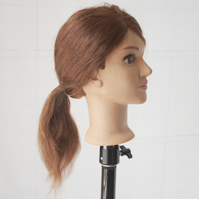 Professional 16 Inch Hairdressing Dolls Head Female Mannequin Hairdressing Styling Training Head 100 Human Hair Mannequin Head