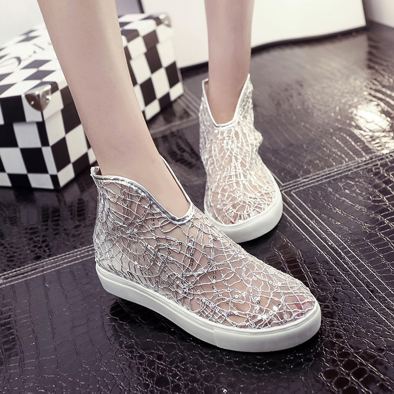 women flat sandals 2016 casual shoes hollow lace black and white shoes for summer womens shoes brand new arrivel size35-40(China (Mainland))