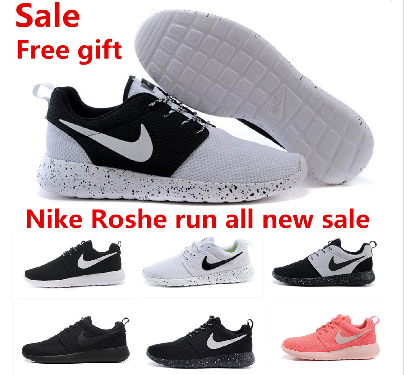 Original 2015 nikings roshing run men and women red rOsherun black and white nikings roshing runing+shOe size36-45 free(China (Mainland))