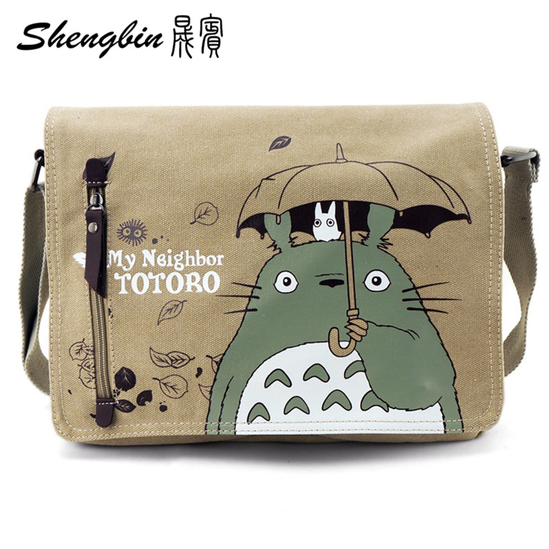 Anime Series Messenger Bag Naruto Totoro Canvas Bag Attack on Titan Shoulderbag Tokyo Ghoul Inclinedbags Sling Pack Cosplay(China (Mainland))