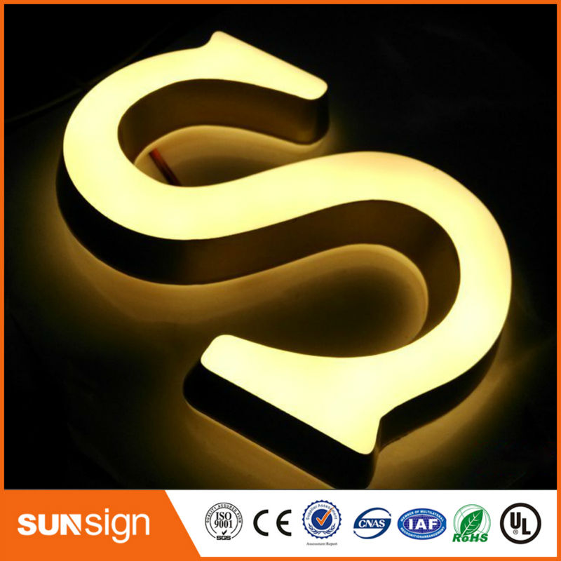 wholesale business signs acrylic storefront led letter sign(China (Mainland))