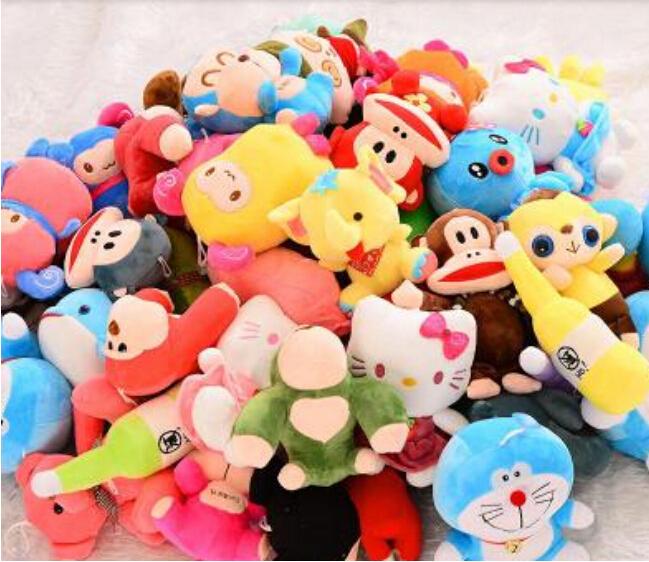 10pcs Plush toy doll wedding raffle gift stall grocery game grasping machine doll stuffed animals keychain wholesale(China (Mainland))