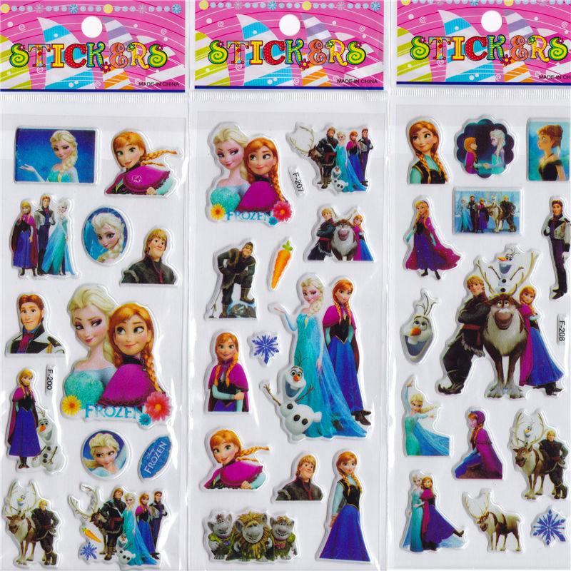 12pcs children cartoon stickers puzzle educational 3D stereo kindergarten reward bubble stickers<br><br>Aliexpress