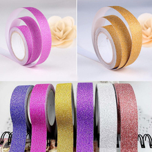 16' Glitter Washi Tape Paper Self Adhesive Stick On Sticky Craft Decorative DIY home garden 5 colors(China (Mainland))