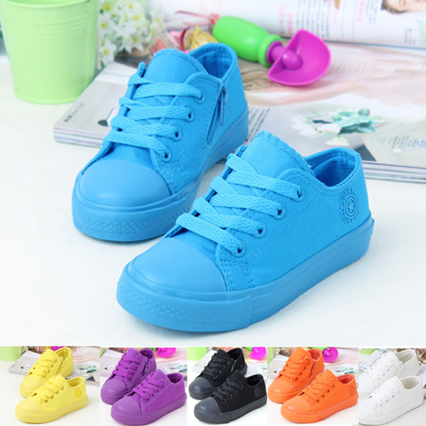 Brand Children Sneakers Kids 6 Colors Fashion Casual Style Low Children Canvas Shoes Girls Boys Sneakers Sapatilha Infantil 2015(China (Mainland))