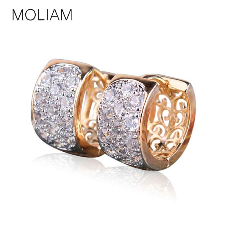 MOLIAM Fashion Hoop Earrings For Women High Quality Brincos Jewelry White Crystal Cubic Zirconia Earings Fashion 2016 E113(China (Mainland))