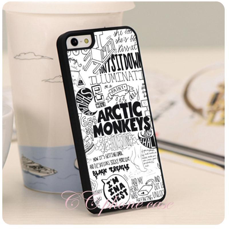 arctic monkeys t shirt Original Hard Plastic Black Skin mobile phone cases cover for iphone 6 6 plus 4 4s 5 5s 5c(China (Mainland))