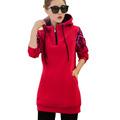 2016 Autumn Winter Women Casual Solid Long Hoodies Warm Female Hoodies Sudaderas Mujer Hooded New Sweatshirts