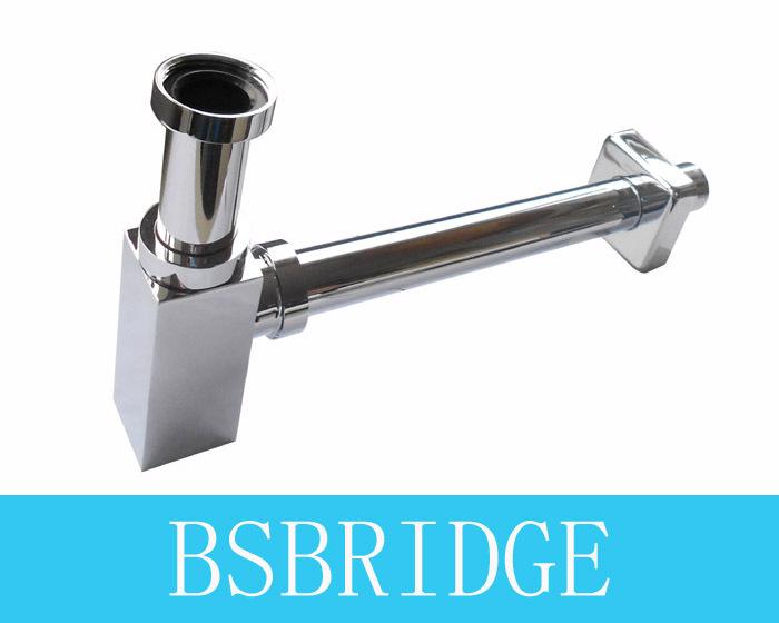 Bsbridge nuevo de ba o de lat n cromo cuadrado cuenca for Precio sifon fregadero