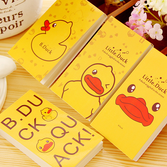 1 PC/ JB166 Korea stationery cute little yellow duck stickers paper notes sticky notes book Guest Article(China (Mainland))