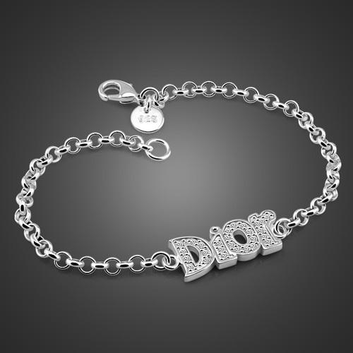 new 925 sterling silver fashion charm lady's bracelet pure silver women bracelet(China (Mainland))
