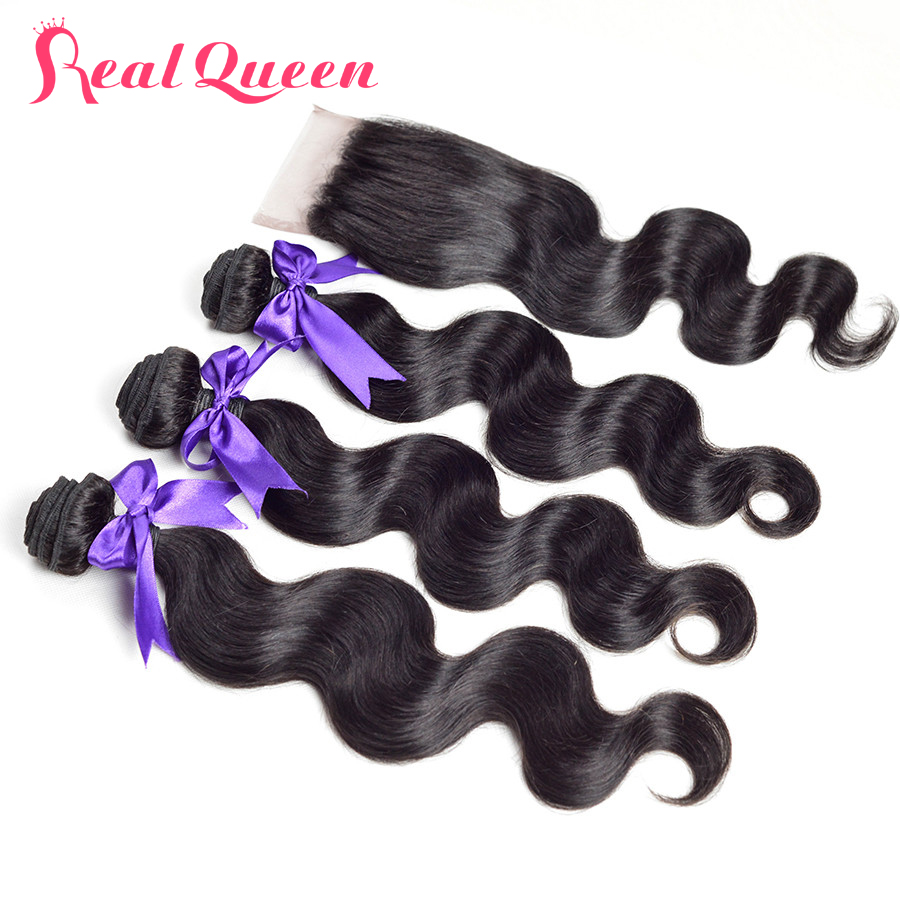 Cheap virgin hair with closure bundle Human hair extensions with closure Lace closure Peerless Peruvian body wave with closure